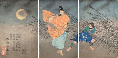 Tsukioka Yoshitoshi, 'Fujiwara no Yasumasa Plays the Flute by Moonlight', 1883