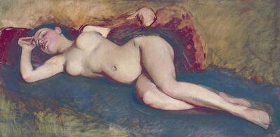 Frank Duveneck, 'Reclining Nude', 1892-1892