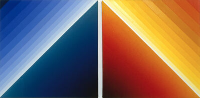Peter Kalkhof, 'Blue-Red Triangle', 2003