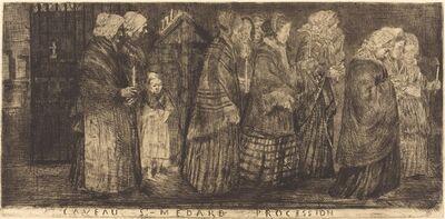 Alphonse Legros, 'Procession in the Sepulchre of Saint Medard(Procession dans le caveaux de St.-Medard)', 1859