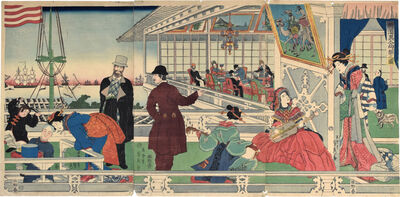 Utagawa Sadahide, 'Home of a Foreign [American] Merchant in Yokahama', 1861