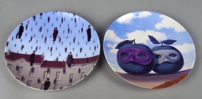 René Magritte, 'Le Domaine Enchanté VII and Golconde (two plates)'