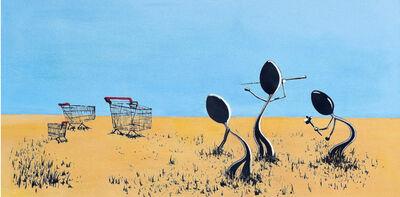 Simone D'Auria, 'Aborigeni (omaggio a Banksy)', 2020