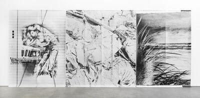 Astrid Klein, 'Untitled (Utopien denunzieren...)', 1987