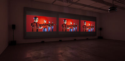 Kraftwerk, '3-D Video-Installation – 1 2 3 4 5 6 7 8, Installation View Sprüth Magers Berlin', 2013