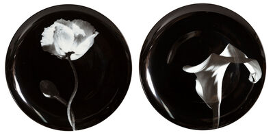 Robert Mapplethorpe, 'Pair of Porcelain Plates, Cala Lily and Poppy Flower', ca. 2000