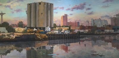 Derek Buckner, 'Cement Factory at Dusk'