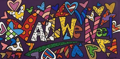 Romero Britto, 'All We Need Is Love', 2019