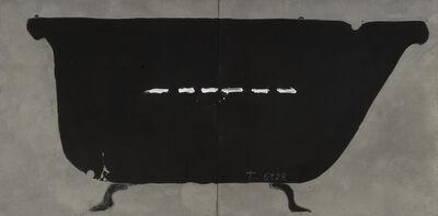 Antoni Tàpies, 'Baignoire noire', 1990