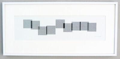 Vera Molnar, ' 9 carrés autrement ', 1991