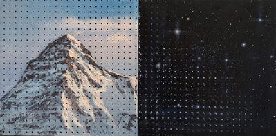 Adam Straus, 'The Big Mountain Cosmic Peg Board Painting', 2018