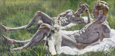 Mark Beard, 'Two Boys with a Dog', date unknown