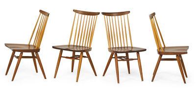 George Nakashima, 'Set of four New Chairs with single-slab seats, New Hope, PA', 1986