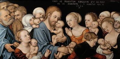 Lucas Cranach the Younger, 'Christ blessing the children', 1538