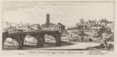 Giovanni Battista Piranesi, 'Ponte Senatorio oggi detto Ponte Rotto', 1748