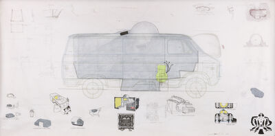 Ant Farm, 'Ant Farm Media Van v.08 [Time Capsule], Plan', 2008
