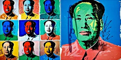Andy Warhol, 'Chairman Mao (Mao Tse-Tung Promotional Card for Leo Castelli Gallery) Hand Signed by Warhol', 1972
