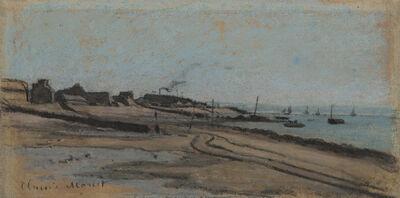 Claude Monet, 'Sainte-Adresse, Vue sur le Perrey (recto) Étude d'une tête de vache (verso)', ca. 1863