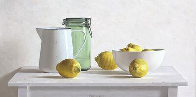 Willem de Bont, 'Can, pot, bowl and 6 lemons', 2018
