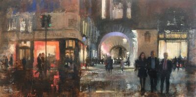 Michael Alford, 'Air Street, Piccadilly - figurative London cityscape', 2020