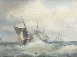 Salvatore Fergola, 'Seascape of Naples (Marina di Napoli)', 1830-1874