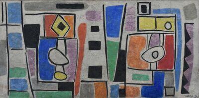 Miguel Ángel Pareja, 'Composición abstracta', 1959