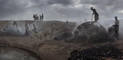 Nick Brandt, 'Charcoal Burning with Zebras', 2018