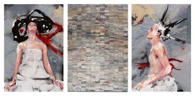 Lita Cabellut, 'Ollin Tryptich'