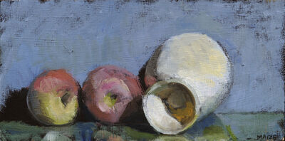 Catherine Maize, 'Egg Cup and 2 Apples', 2013