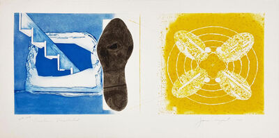James Rosenquist, 'Nuclear Neighborhood: Towel, Star, Sunglasses (a pair of works from the Tripartite series)', 1977