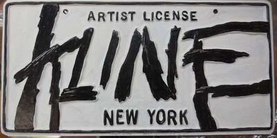 Greg Constantine, 'Franz Kline Artist License Plate, Pop Art', 1980-1989