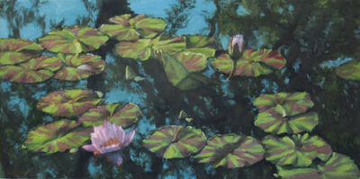 Ella Yang, 'Waterlily with Forked Tree Branch Reflection, Autumn', 2017