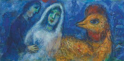 Marc Chagall, 'Les Mariés au coq', ca. 1975