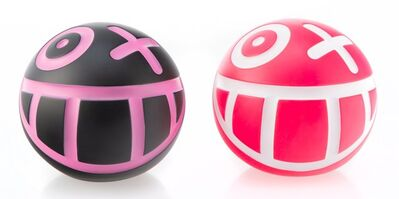 André Saraiva, 'Mini Mr. A Ball (Pink and Black) (two works)', 2018
