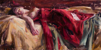 Quang Ho, 'Reclining Figure With Red Silk', 2019