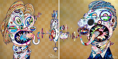 Takashi Murakami, 'Homage to Francis Bacon, Study for Head of Isabel Rawsthorne and George Dyer (2 Prints)', 2016