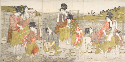 Kitagawa Utamaro, 'Brine Carriers', ca. 1804