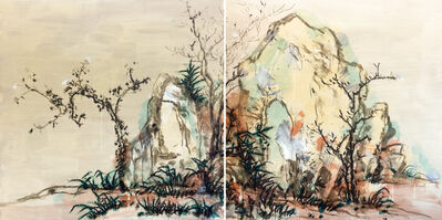 Ye Yongqing 叶永青, 'Homage to Elegant Rocks and Sparse Trees ( Diptych)', 2016