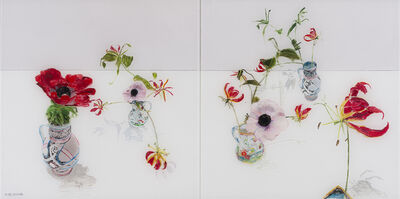 Gail Norfleet, 'Anemones and Butterfly Orchids', 2018