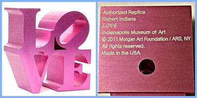 Robert Indiana, 'LOVE  (Artist Authorized, with Incised Indianapolis Museum of Art & Morgan Foundation Stamp and Artist Copyright)', 2011