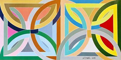 Frank Stella, 'Rare 1969 Leo Castelli invitation (Hand Signed)', 1969