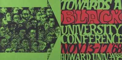 Lloyd McNeill, Lou Stovall, 'Towards a Black University Conference', 1968