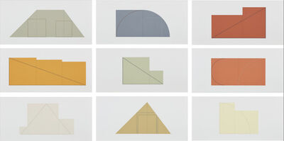 Robert Mangold (b.1937), 'Multiple Panel Paintings, 1973-1976', 1992