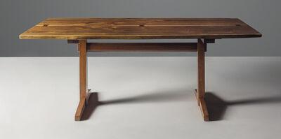 George Nakashima, 'A 'Trestle' dining table', designed 1944