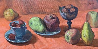 Rigoberto A. Gonzalez, 'Still life with Pomegranate', 2021
