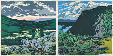 Neil G. Welliver, 'Two works of art: Maiden's Cliff, Brigg's Meadow, 1973 from Landscapes', 1987