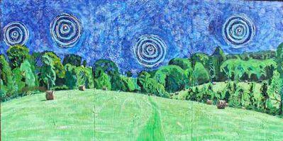 John Borden Evans, 'Hay Bales at Night', 2015