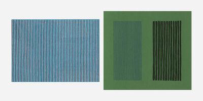 Gene Davis, 'Sonata and Green Giant (two works)', 1980