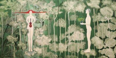 Orlando Agudelo Botero, 'LA OFRENDA, EL BOSQUE ENCANTADO - Enchanted Forest, The Offering'