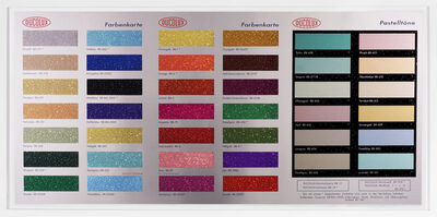 Damien Hirst, 'Colour Chart with Glitter', 2017